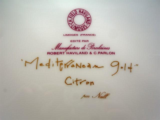 "C.H.Field Haviland, Limoges (France) ""Mediterranean Gold"" Citron by Nall"