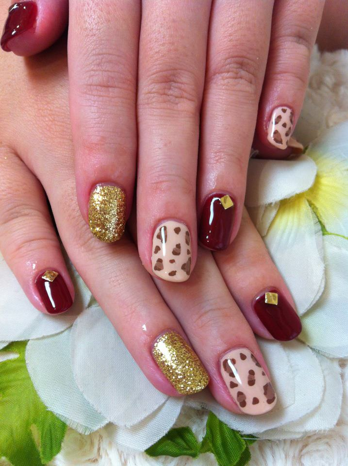 Cute Nail Designs Leopard Mix Design Nails By Ayao
