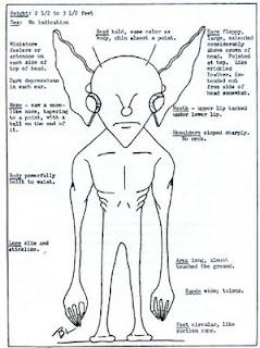 extraterrestre con brazos largos y orejas largas