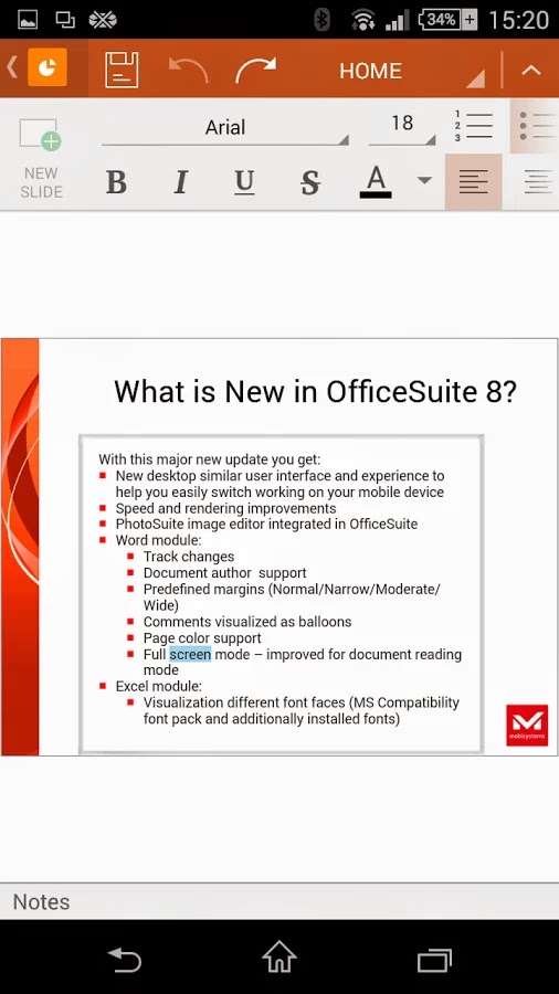 OfficeSuite Pro 7 (PDF & HD)v8.0.2364