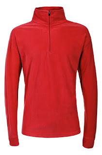 Trespass Men's Duty AirTrap100 1/2 Zip Fleece Jumper - Red