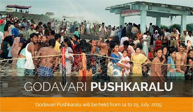 Godavari Pushkaralu 2015 - Pushkar Ghats, Tourist Attractions, Temples, Heritage Spots, Nature Retreats, Transportation Telangana Andhra Pradesh