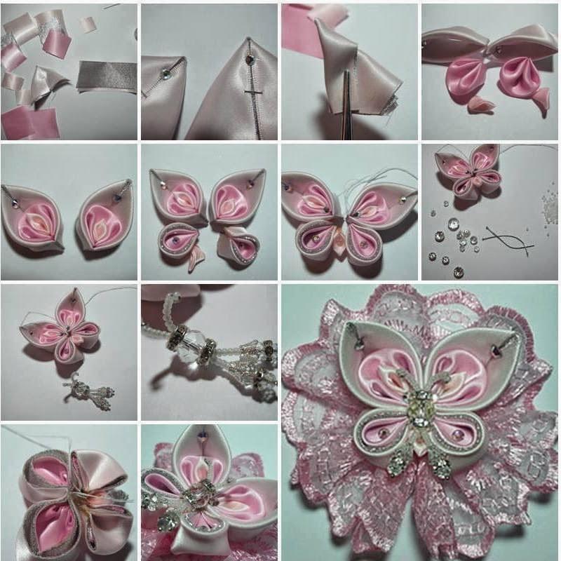 Цветы своими руками из лент канзаши