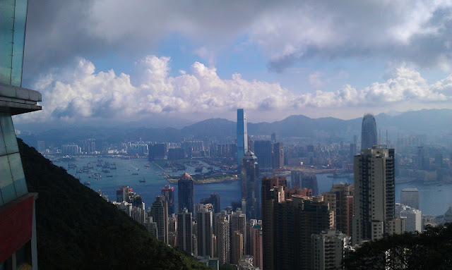 The Peak, Hong Kong. I had a great holiday there flying with Cathay Pacific