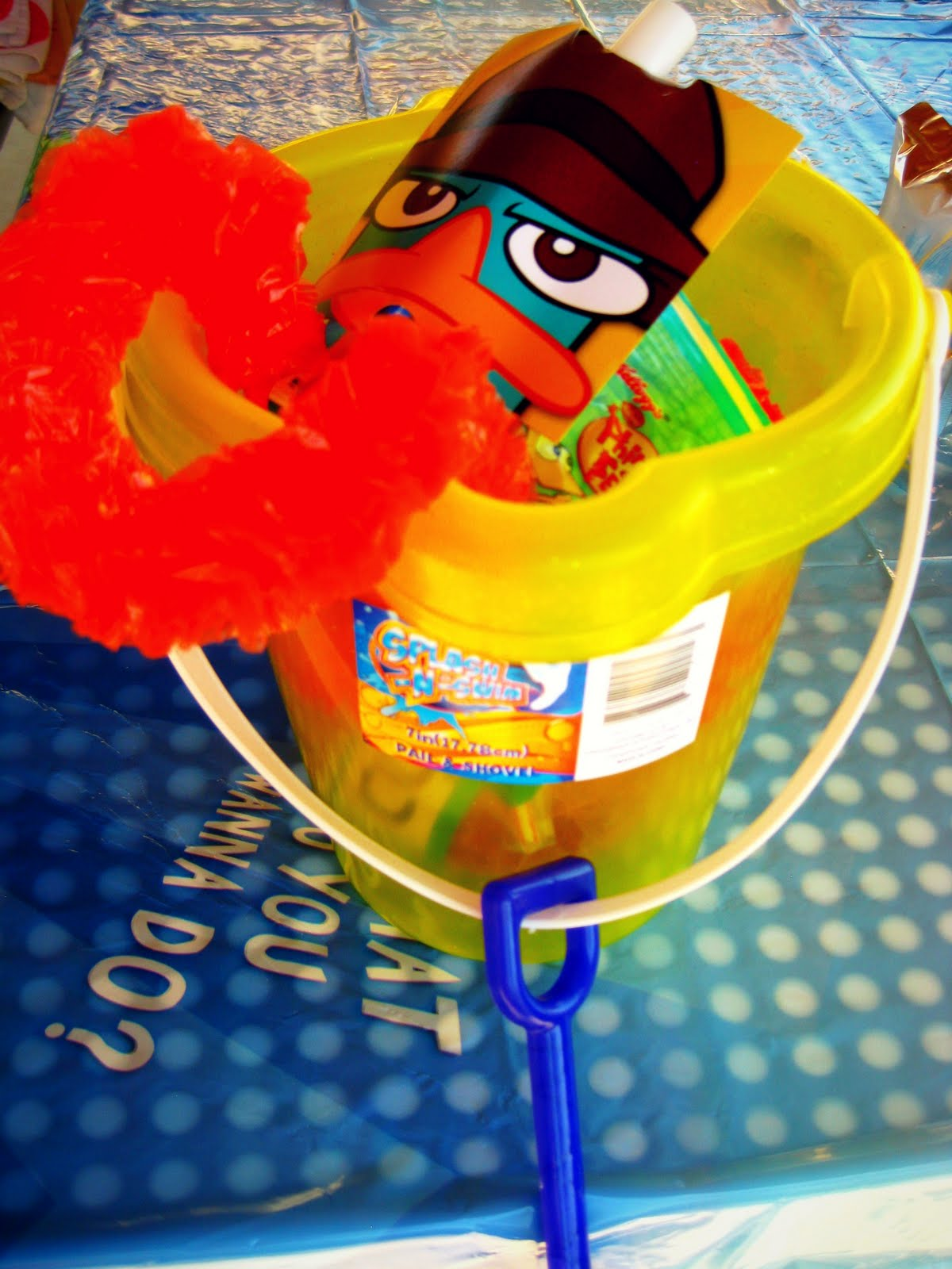 the party favors beach bucket lei perry phineas and ferb fruit