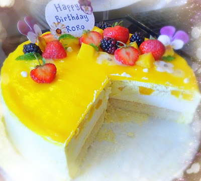 Cherie Kelly's Mango and Vanilla Mousse Cake
