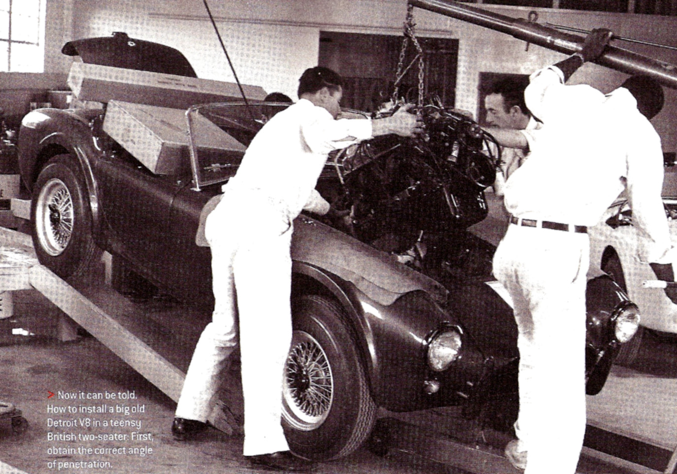 Classic Cars Authority: An innovative way to get a big engine in a ...