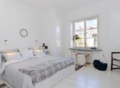 habitación matrimonial nórdica