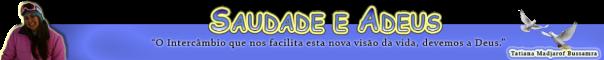 SAUDADE E ADEUS