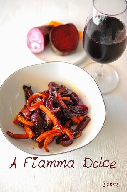 barbabietole e carote in agrodolce