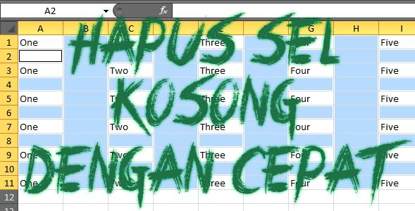 Cara Cepat Dan Mudah Menghapus Baris dan Kolom Kosong pada Excel