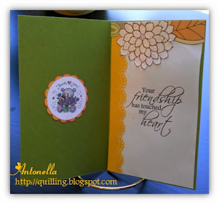 Antonella's Thank you card sentiment Your Friendship has Touched my Heart