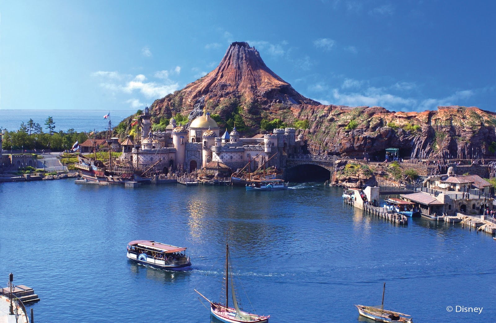 Disney sea is the next place that offers ocean views beautiful port