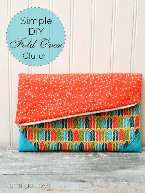 foldover clutch DIY