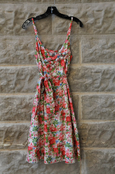 Rose Bud Dress with Covered Button Details