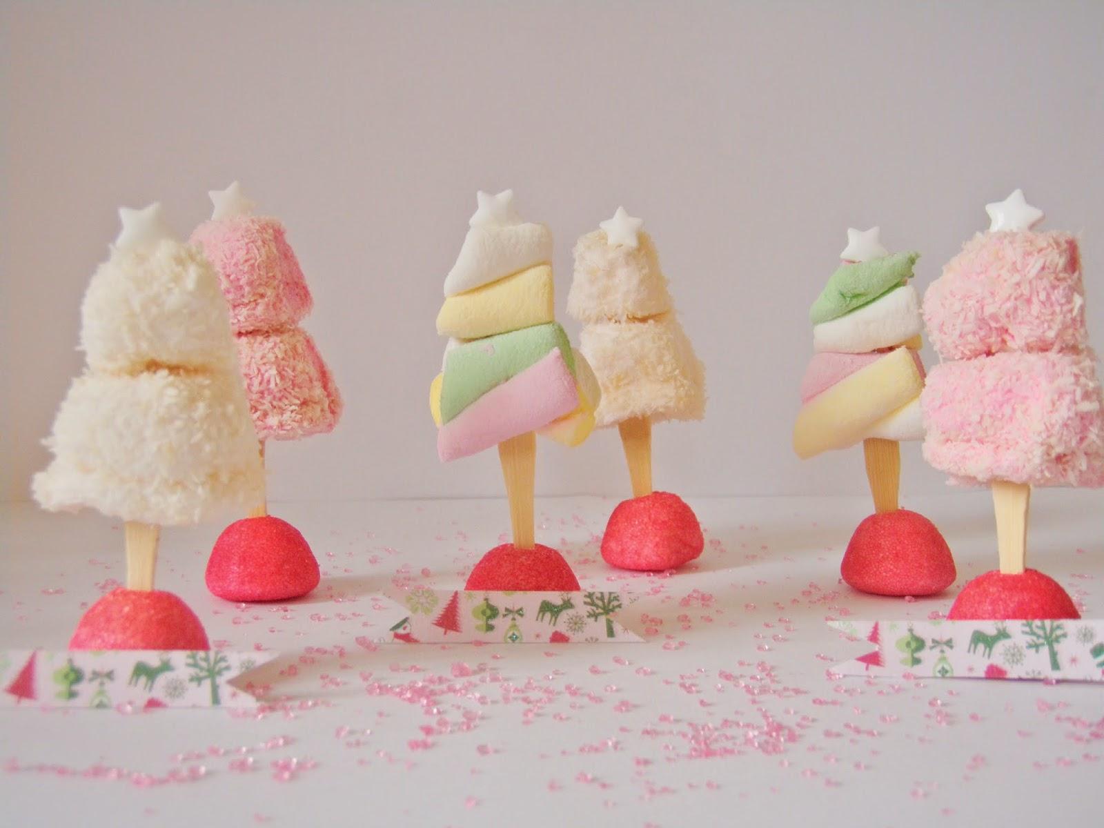 No l pastel et sucr 5 des sapins marque places en bonbons - Marque place noel a fabriquer ...