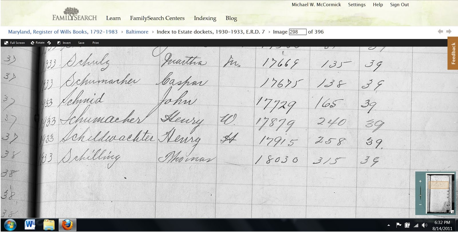 Baltimore county maryland genealogy learn familysearch org - With That Index Data I Was Able To Go Back To The List Of Probate Books That Had Been Scanned And Pick The One I Want I Was Supposed To Be Looking