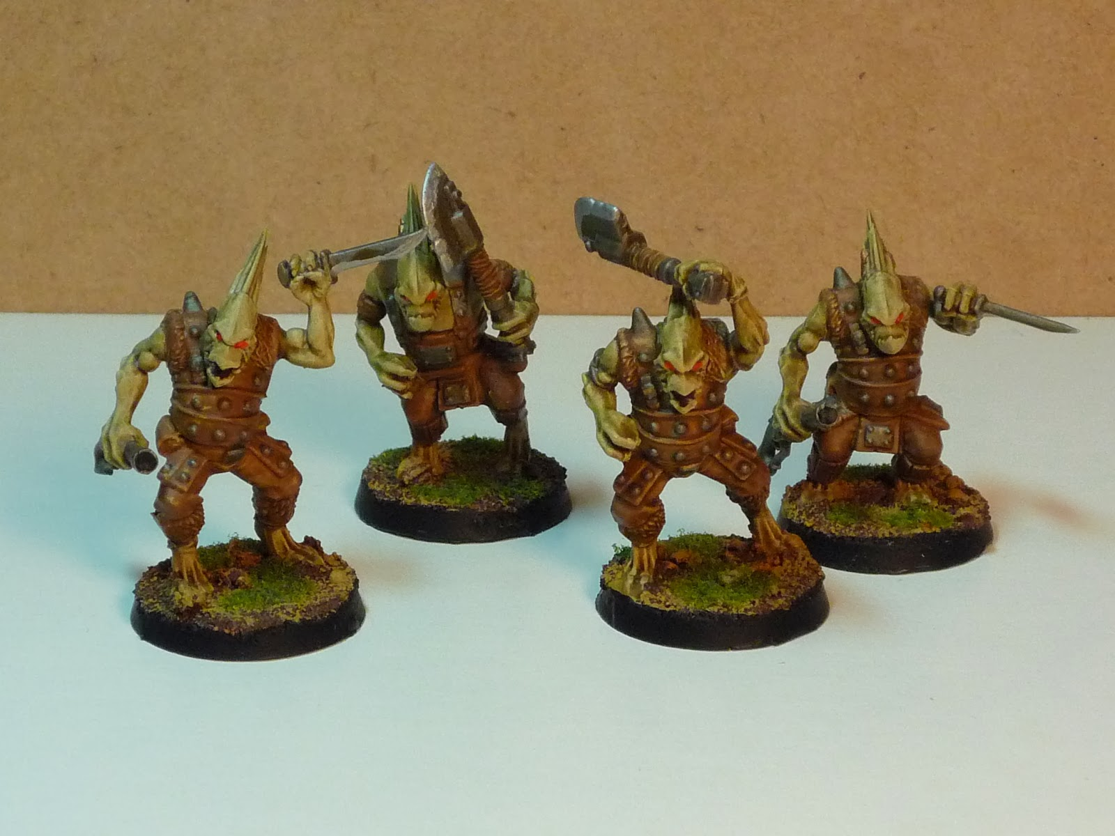 Smhit gamma goons for gamma world specifically chickenoidz and the famous and silly vegepygmies for the mutant chickens i used gorkamorka orks and kroot plastic bits publicscrutiny Image collections