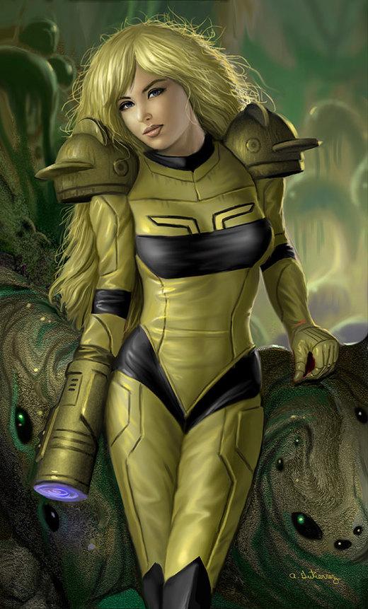 Metroid Samus Aran por stardriv