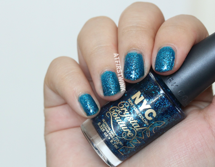 NYC Crystal Couture glitters nail polish 014 - Blue Majesty