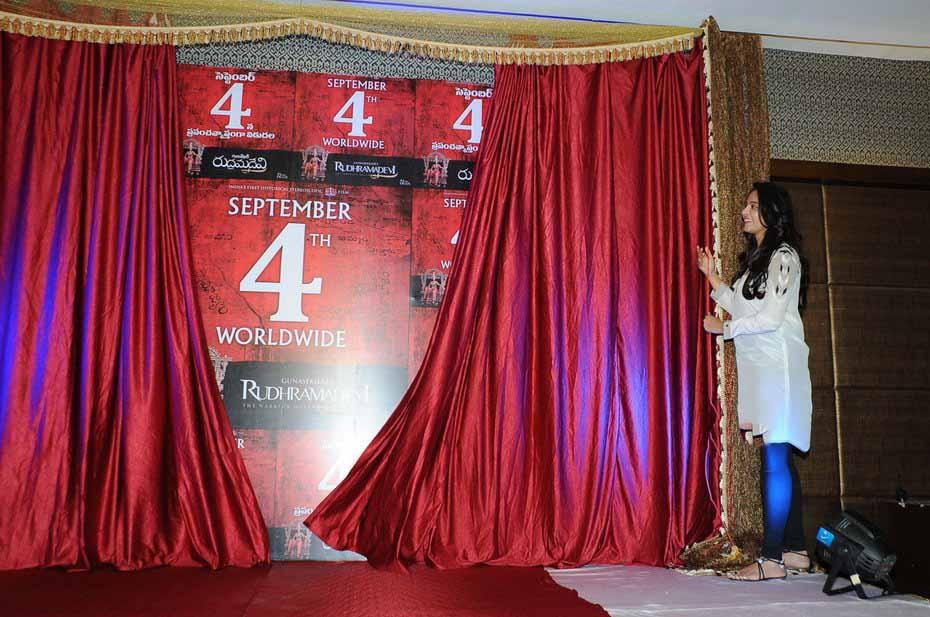 Anushka Latest HD images at Rudhramadevi Press Meet