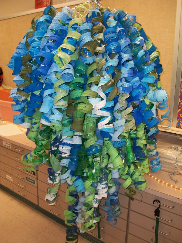 Art with Miss H Creating a Chihulyinspired Chandelier from – Plastic Bottle Chandelier