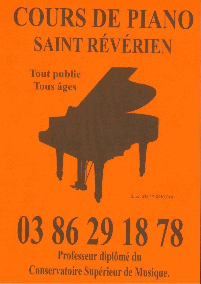 Cours de piano à Saint-Révérien