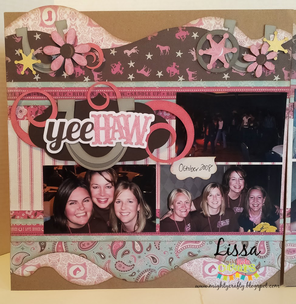 Yee Haw layout for Miss Kate Cuttables by Lissa Mitchell
