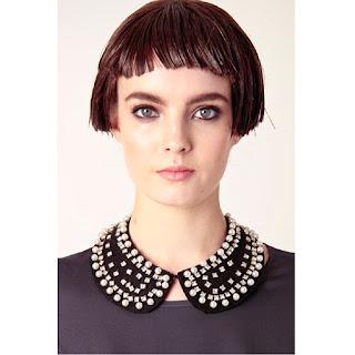 Black beaded collar by Kling