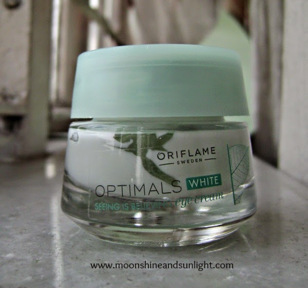 Oriflame Optimals seeing is believing eye cream review, Indian beauty blog
