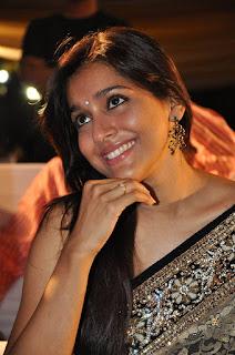 Rashmi Gautam Latest Cute Pictures in Saree at Dhana Lakshmi Talupu Tadithe Audio Launch   (9)