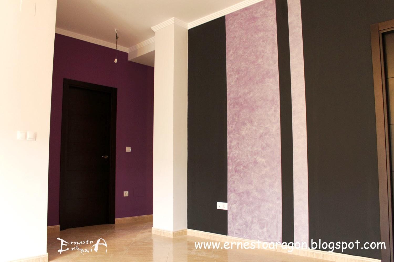 Ernesto arag n pintura para el hogar negro lila plata - Colores para salon ...