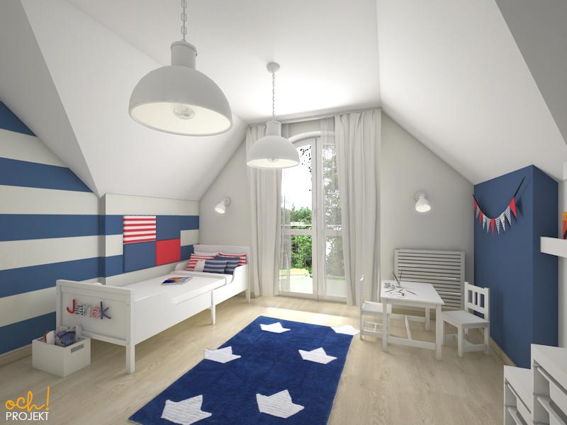 Ochprojekt Ahoj Pokój Dziecięcy W Stylu Marynarskim Za 3 800 Zł