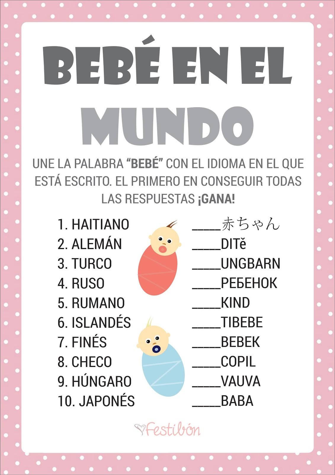 Bebé en el mundo | Juegos de Baby Shower