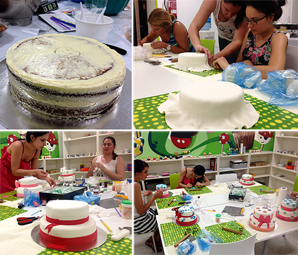 proceso tarta fondant de dos pisos