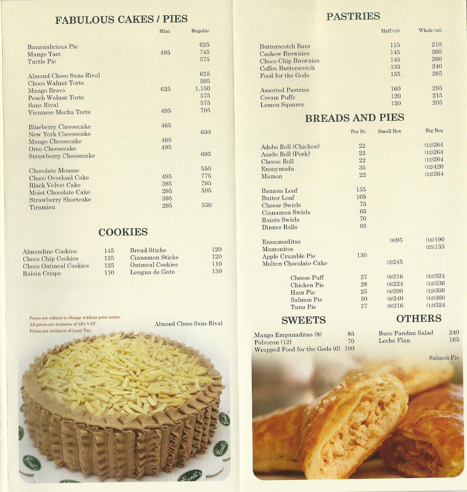 Cake Cafe Menu New Orleans