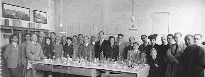 Vermut de bienvenida del Torneo Internacional de Ajedrez Barcelona 1946