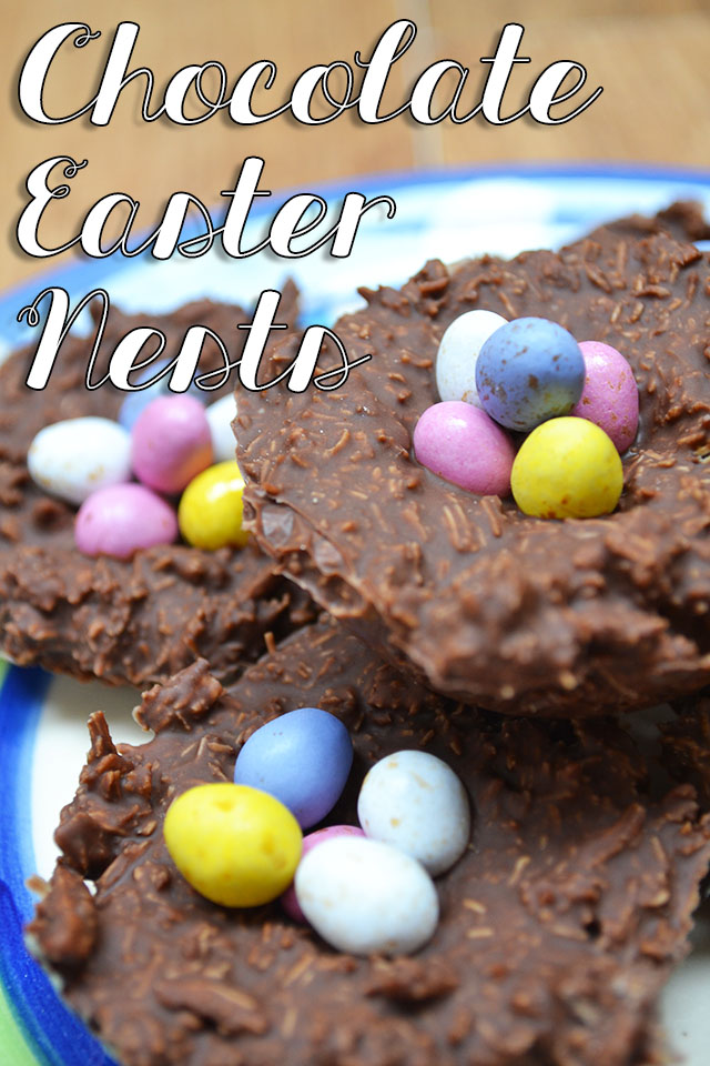 chocolate shredded wheat nests easter