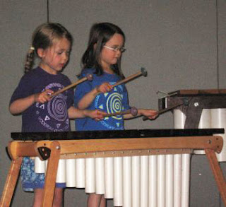 The students build on the fundamentals of music, continuing to become more familiar with musical theory through games and composing simple musical pieces