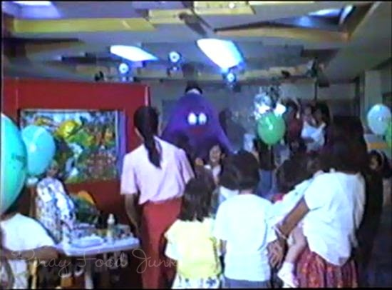 children welcoming grimace