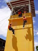 Treinamento físico dos alunos do curso de resgate