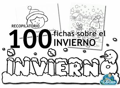 Recursos infantil 100 fichas sobre el invierno la eduteca - Proyecto el invierno ...