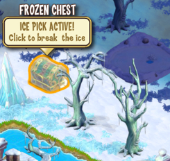 Frozen chest ice pick