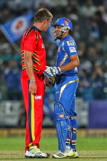 Rohit-Sharma-Hardus-Viljoen-Mumbai-Indians-vs-Highveld-Lions-M11-CLT20-2013