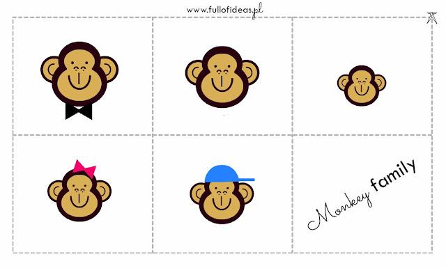 angielski, przedszkole, family, flashcards, Head Full of Ideas, www.fullofideas.pl