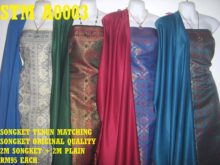 STM A0003: SONGKET TENUN MATCHING, HIGH QUALITY, 2M SONGKET + 2M PLAIN