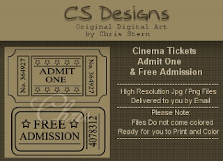 Cinema, Free Admission and Ticket Digital Stamp Collecton