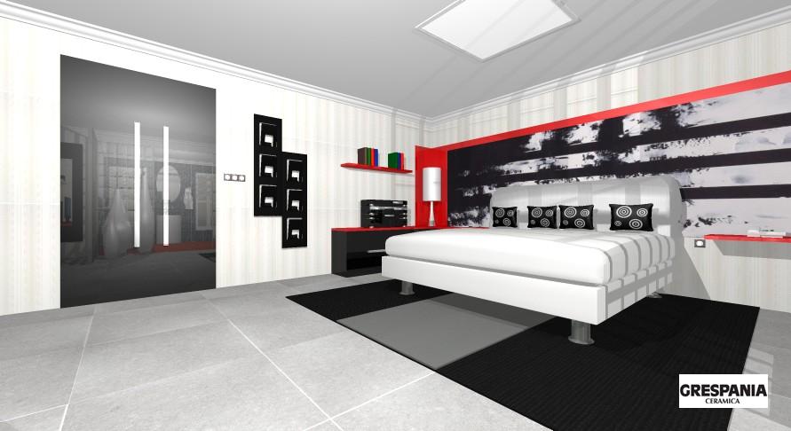 Decoracion de interiores dise o de dormitorio vestidor y for Diseno de habitacion con bano privado