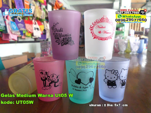 Gelas Medium Warna Ut05 W