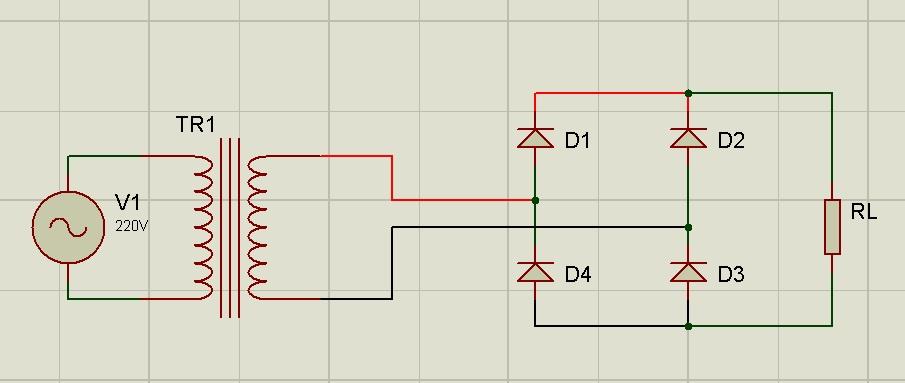 Circuito Rectificador : Circuito rectificador de onda completa electrÓnica